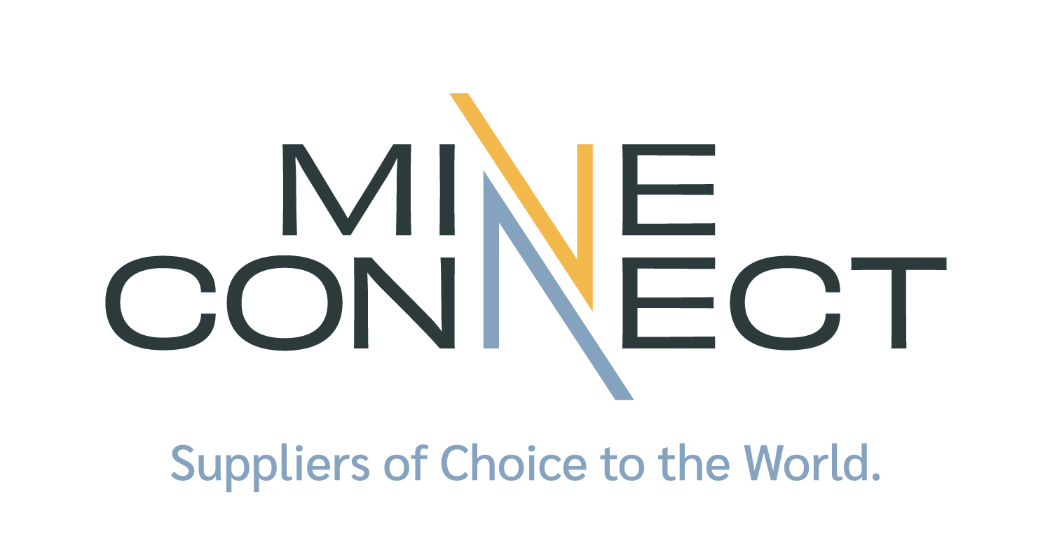 MineConnect Logo World Tagline CMYK