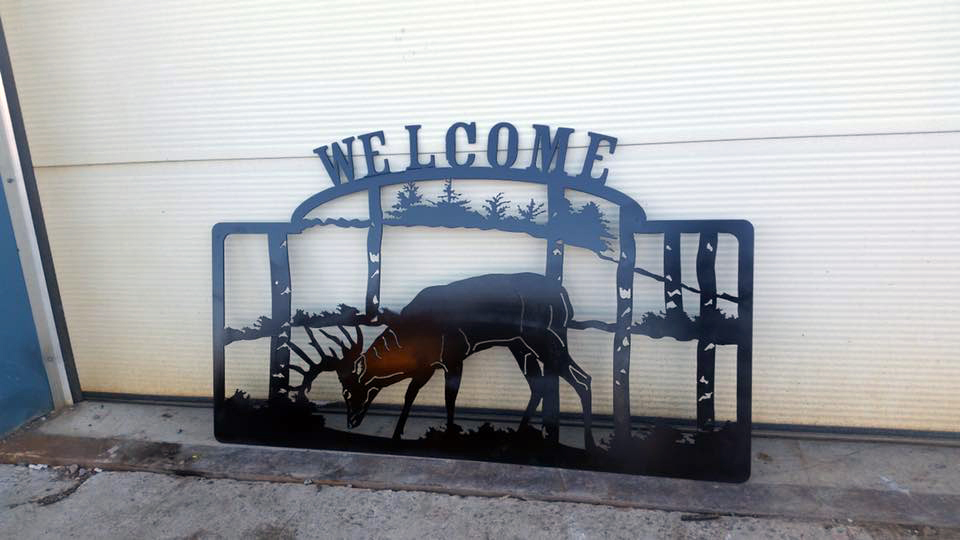 Customized steel welcome gate