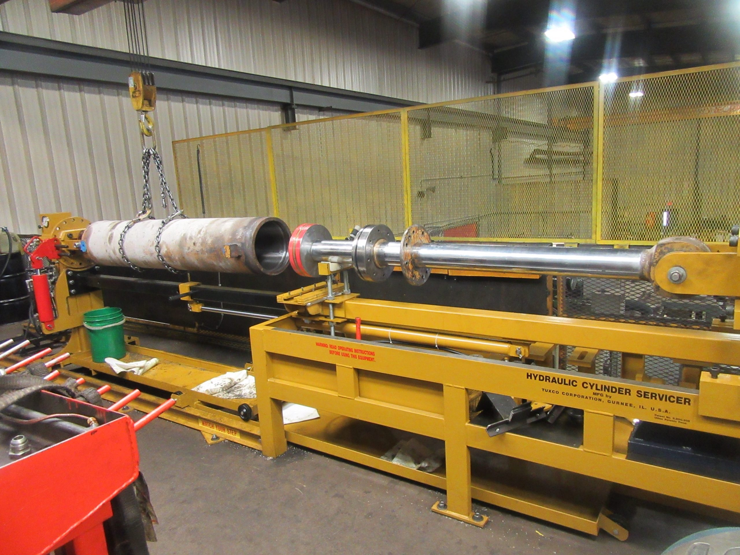 Rector repairs and manufactures large (and small) cylinders such as this 12 inch cylinder used in the steel industry