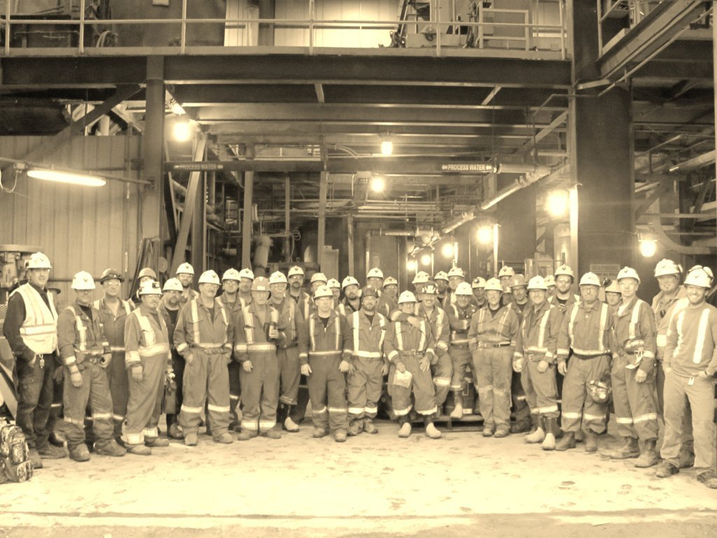 The Rector team (crew size of 40) after successfully completing a 21 day shutdown without any lost-time injuries