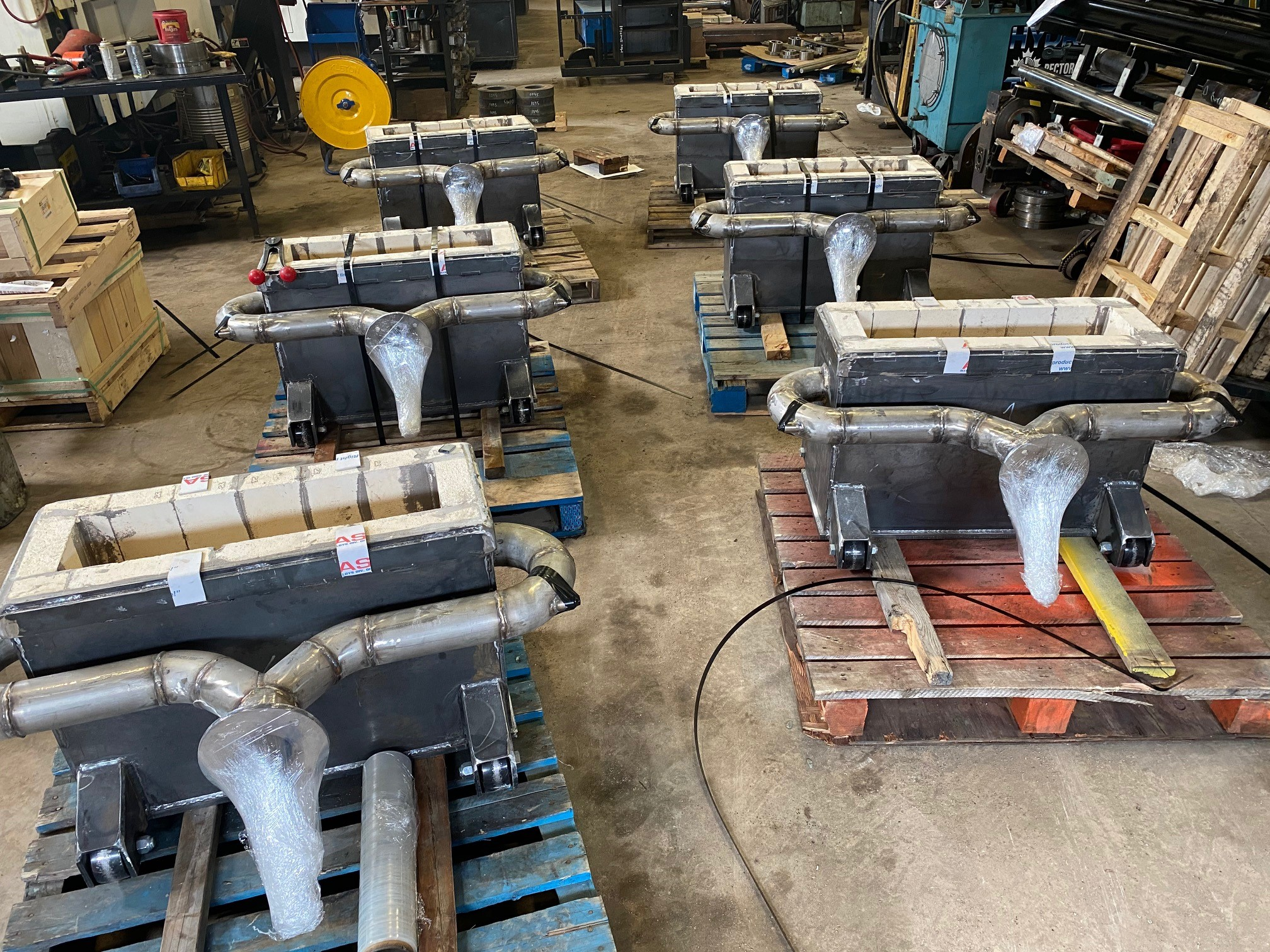 Rector builds lined preheater boxes for the steel industry following ISO 9001-2015 guidelines